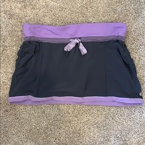 Gray and purple lululemon tennis skirt